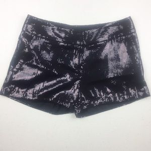 The Limited Drew Fit Black Sequin Shorts Size 4